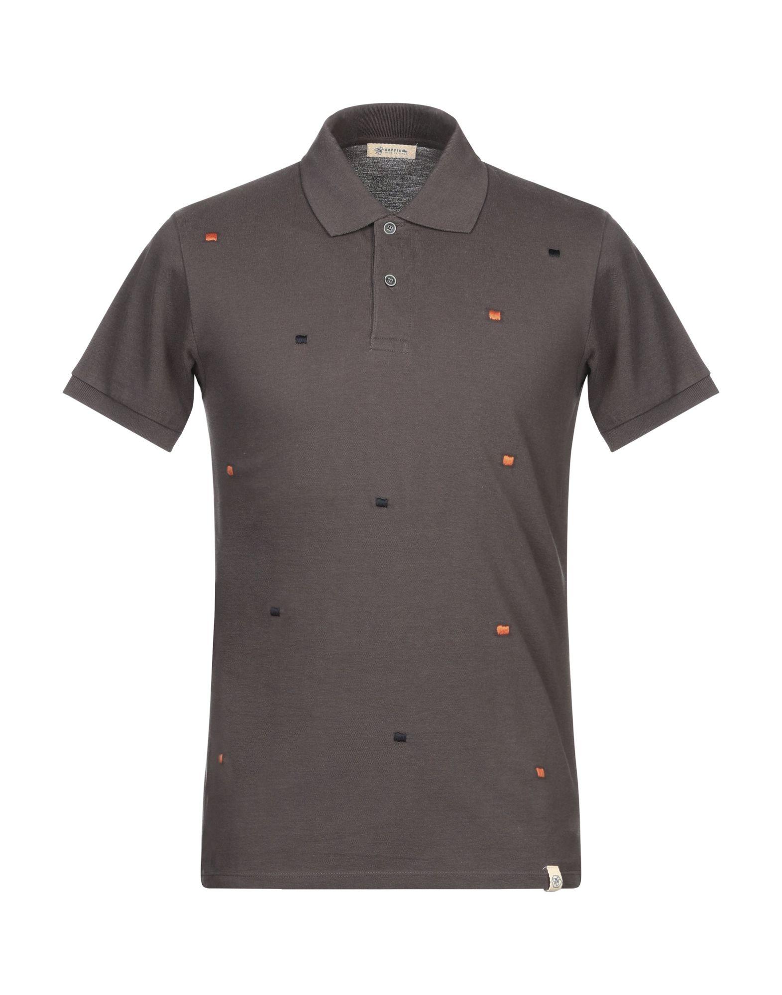 《期間限定セール開催中!》SUPPLIER DOPPIA P メンズ ポロシャツ スチールグレー S コットン 100%