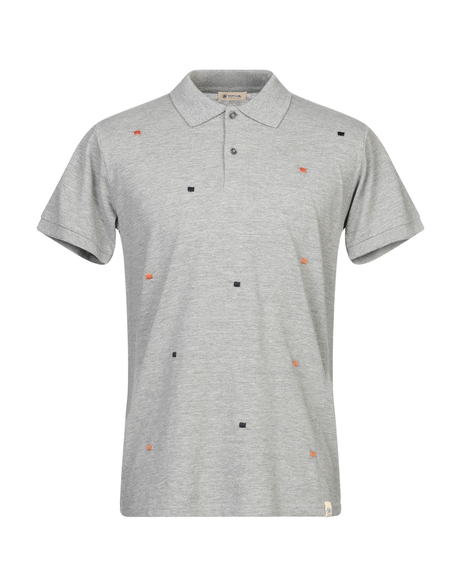 《期間限定セール開催中!》SUPPLIER DOPPIA P メンズ ポロシャツ グレー L コットン 100%