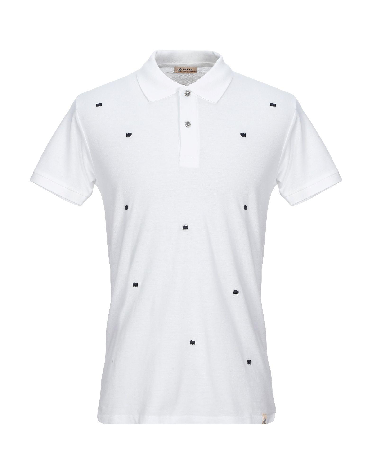 《期間限定セール開催中!》SUPPLIER DOPPIA P メンズ ポロシャツ ホワイト S コットン 100%