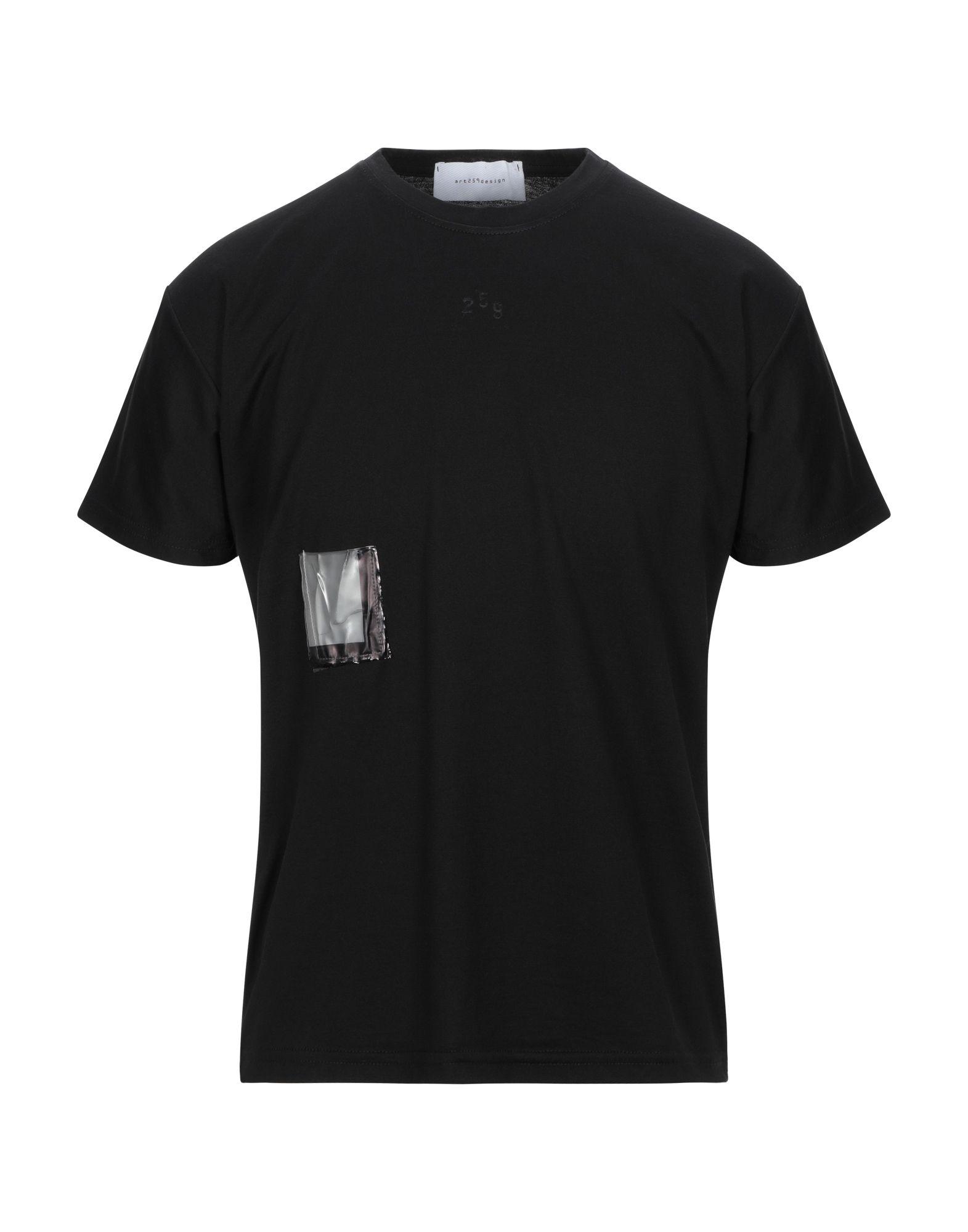 《セール開催中》ART 259 DESIGN by ALBERTO AFFINITO メンズ T シャツ ブラック L コットン 100%