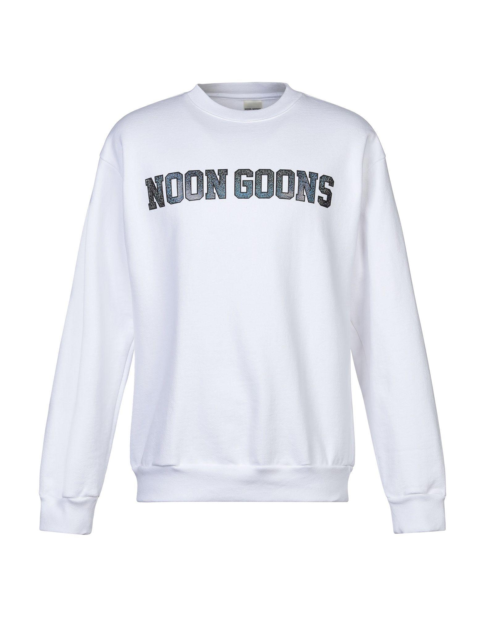《セール開催中》NOON GOONS メンズ スウェットシャツ ホワイト S コットン 100%
