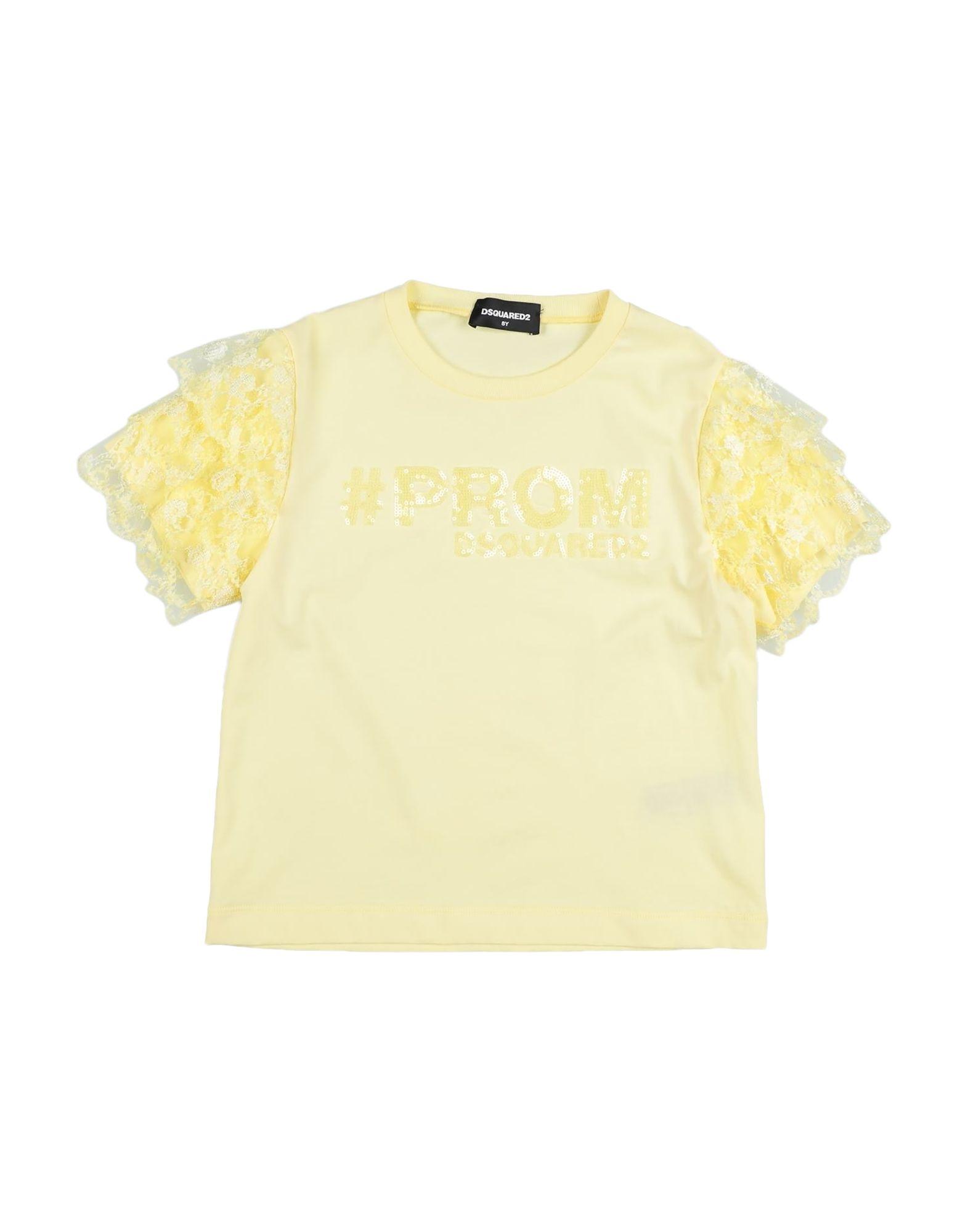 Dsquared2 Kids' T-shirts In Yellow
