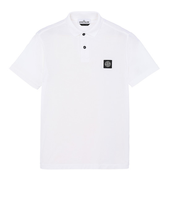 STONE ISLAND 22613 Polo shirt Man White