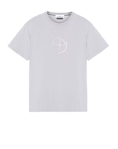 "STONE ISLAND 2NS89""DATA SCAN"" Short sleeve t-shirt Man Dust Grey EUR 103"
