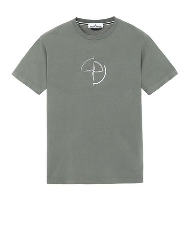 "STONE ISLAND 2NS89""DATA SCAN"" Short sleeve t-shirt Man Olive Green EUR 103"