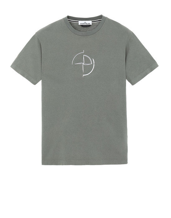 "STONE ISLAND 2NS89""DATA SCAN"" Short sleeve t-shirt Man Olive Green"