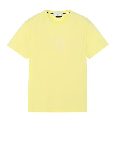 "STONE ISLAND 2NS89""DATA SCAN"" Short sleeve t-shirt Man Lemon EUR 109"