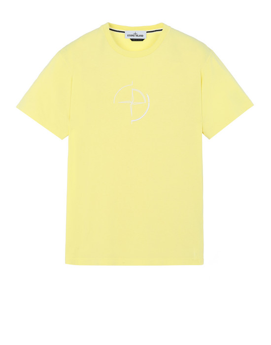 "STONE ISLAND 2NS89""DATA SCAN"" Short sleeve t-shirt Man Lemon"
