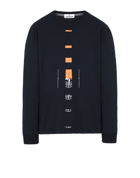 "STONE ISLAND 2ML90""OFFSET"" Long sleeve t-shirt Man Blue"