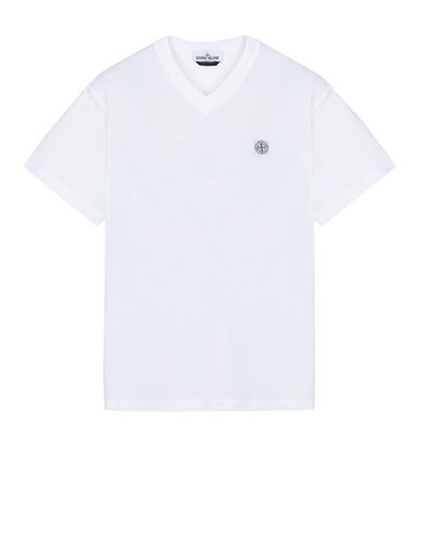 "STONE ISLAND 23857""FISSATO""DYE TREATMENT Short sleeve t-shirt Man White EUR 109"