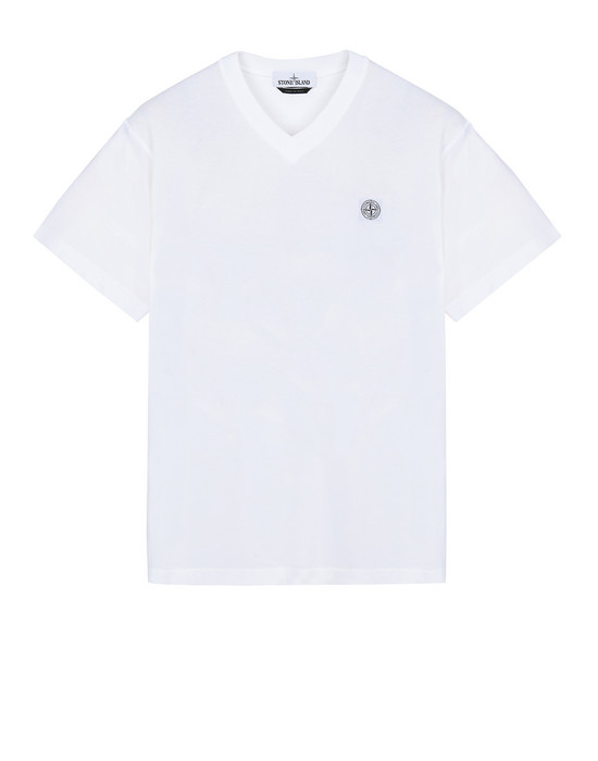 "STONE ISLAND 23857""FISSATO""DYE TREATMENT Short sleeve t-shirt Man White"