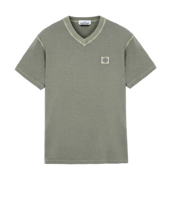 "STONE ISLAND 23857""FISSATO""DYE TREATMENT T-Shirt Herr Olivgrün"