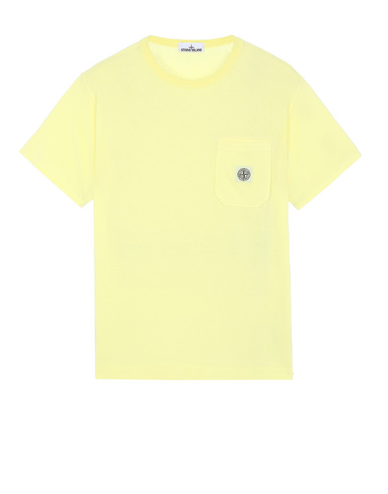STONE ISLAND 20257 Short sleeve t-shirt Man Lemon