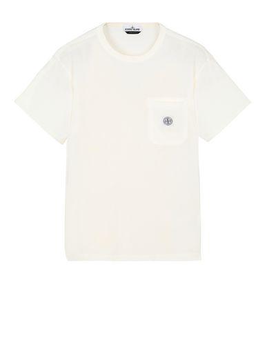 STONE ISLAND 20257 Short sleeve t-shirt Man Ivory EUR 129
