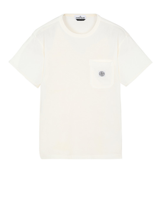 STONE ISLAND 20257 Short sleeve t-shirt Man Ivory