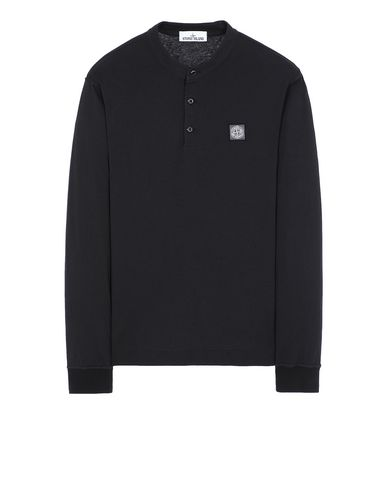 "STONE ISLAND 22157""FISSATO""DYE TREATMENT Long sleeve t-shirt Man Black EUR 165"