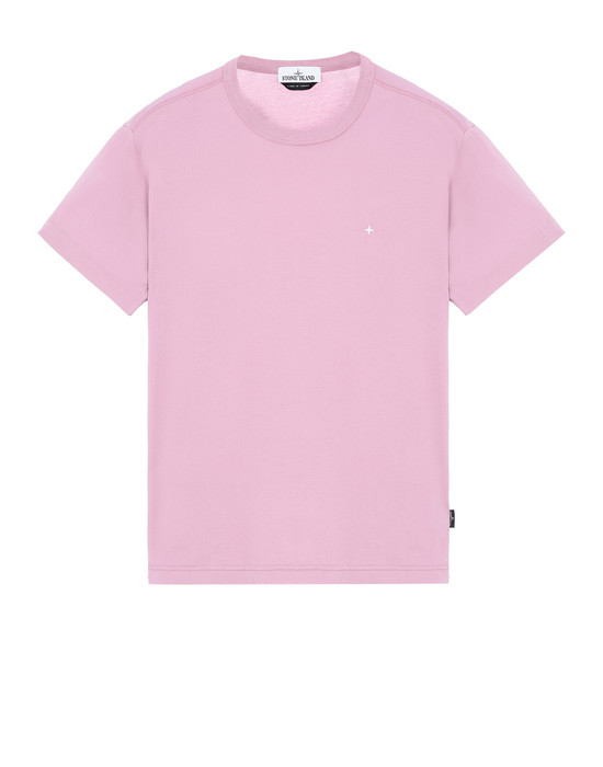 STONE ISLAND 22913 Short sleeve t-shirt Man Pink Quartz