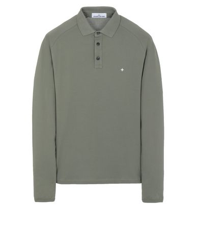 STONE ISLAND 21617 Polo shirt Man Olive Green EUR 135