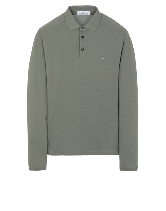 STONE ISLAND 21617 Polo shirt Man Olive Green