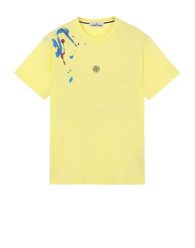 "STONE ISLAND 2NS81""ACQUADRONE TWO"" Short sleeve t-shirt Man Lemon EUR 136"
