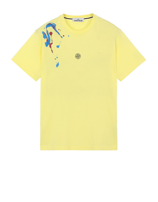 "STONE ISLAND 2NS81""ACQUADRONE TWO"" Short sleeve t-shirt Man Lemon"