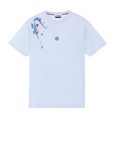 "STONE ISLAND 2NS81""ACQUADRONE TWO"" Short sleeve t-shirt Man Sky Blue USD 91"