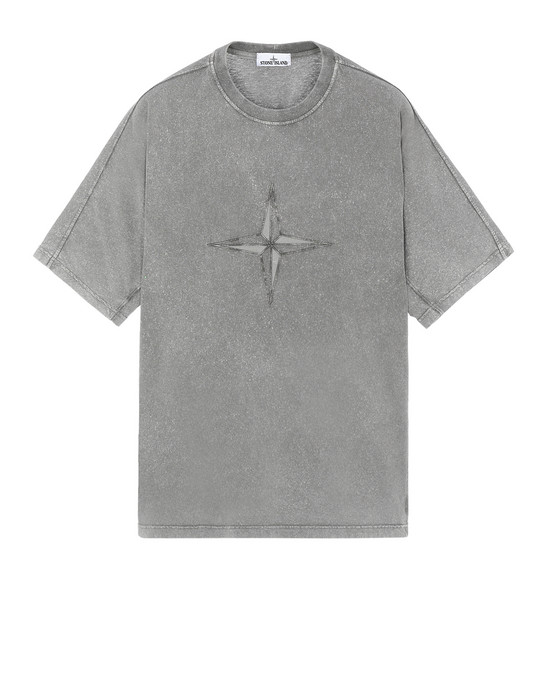 T-Shirt 24555 FLECK TREATMENT STONE ISLAND - 0
