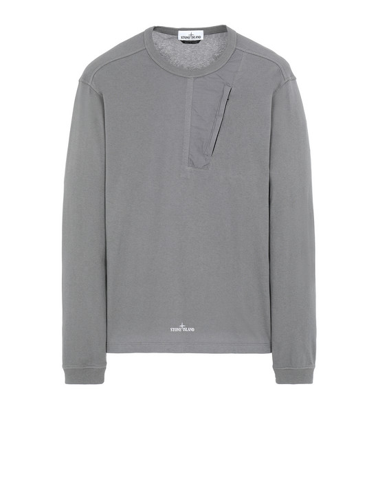 STONE ISLAND 20458 Long sleeve t-shirt Man Blue Grey