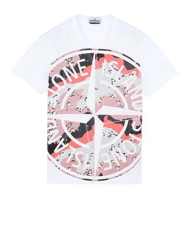 STONE ISLAND 23386 DESERT CAMO Short sleeve t-shirt Man White EUR 163