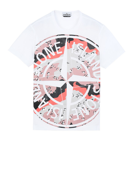 STONE ISLAND 23386 DESERT CAMO Short sleeve t-shirt Man White