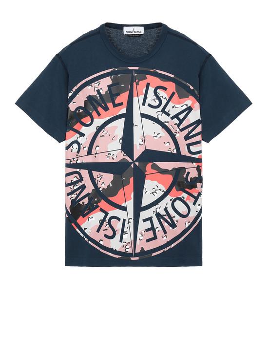 STONE ISLAND 23386 DESERT CAMO Short sleeve t-shirt Man Marine Blue