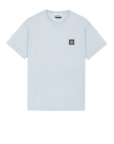 STONE ISLAND 24113 Short sleeve t-shirt Man Sky Blue USD 92