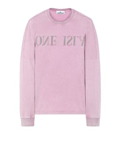 STONE ISLAND 24455 FLECK TREATMENT  Long sleeve t-shirt Man Pink Quartz EUR 238