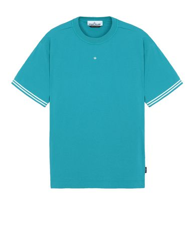 STONE ISLAND 21358 T-shirt manches courtes Homme Turquoise EUR 124