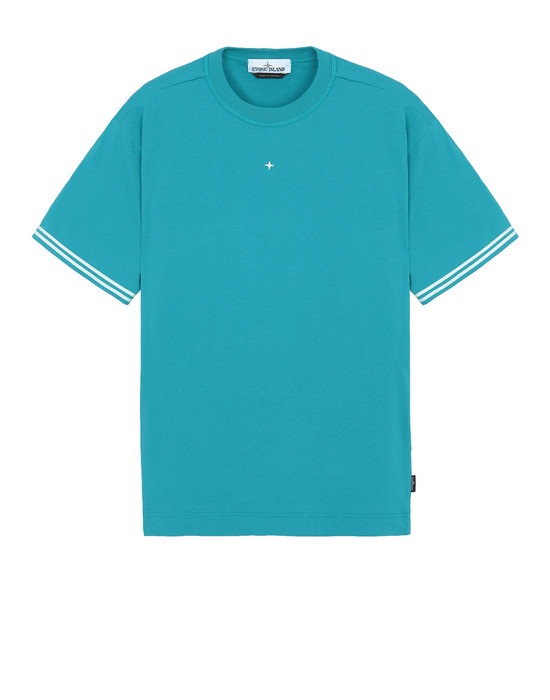 STONE ISLAND 21358 Short sleeve t-shirt Man Turquoise
