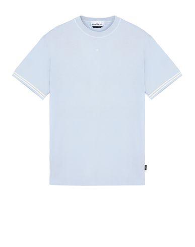 STONE ISLAND 21358 Short sleeve t-shirt Man Sky Blue USD 114
