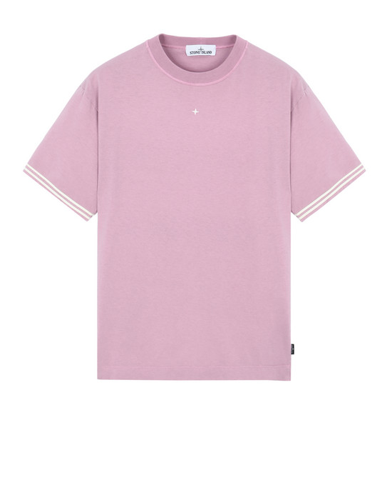 STONE ISLAND 21358 Short sleeve t-shirt Man Pink Quartz