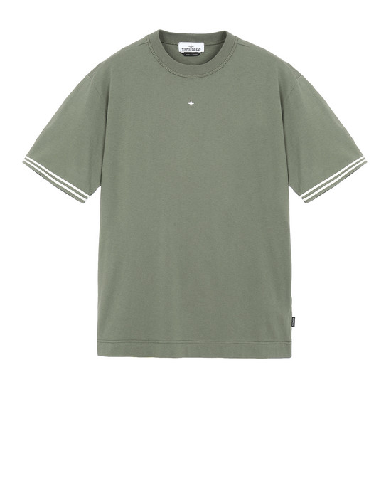 STONE ISLAND 21358 Short sleeve t-shirt Man Olive Green
