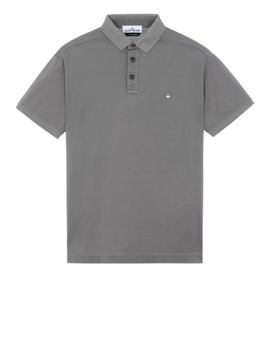 STONE ISLAND 24212 Polo shirt Man Blue Grey