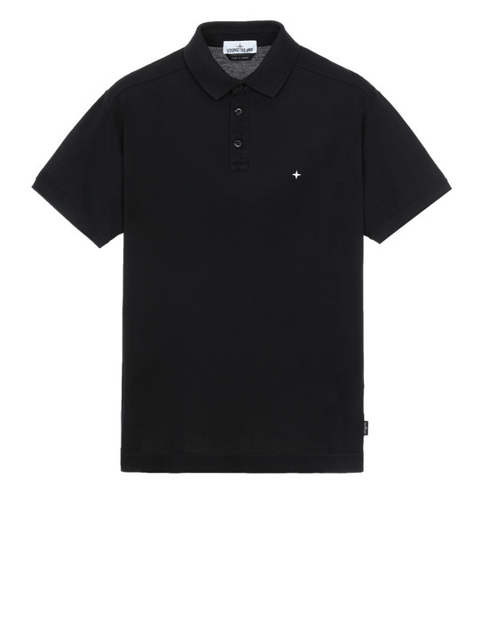 STONE ISLAND 24212 Polo shirt Man Black