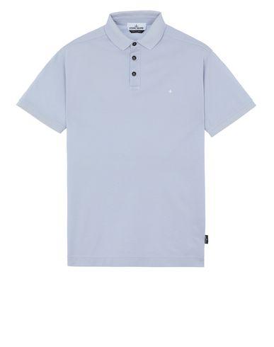 STONE ISLAND 24212 Polo shirt Man Baby Blue EUR 154