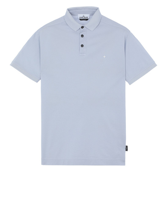 STONE ISLAND 24212 Polo shirt Man Baby Blue