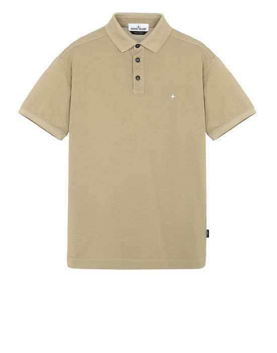 STONE ISLAND 24212 Polo shirt Man Dark Beige