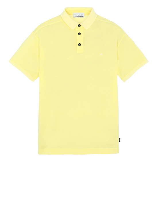 STONE ISLAND 24212 Polo shirt Man Lemon