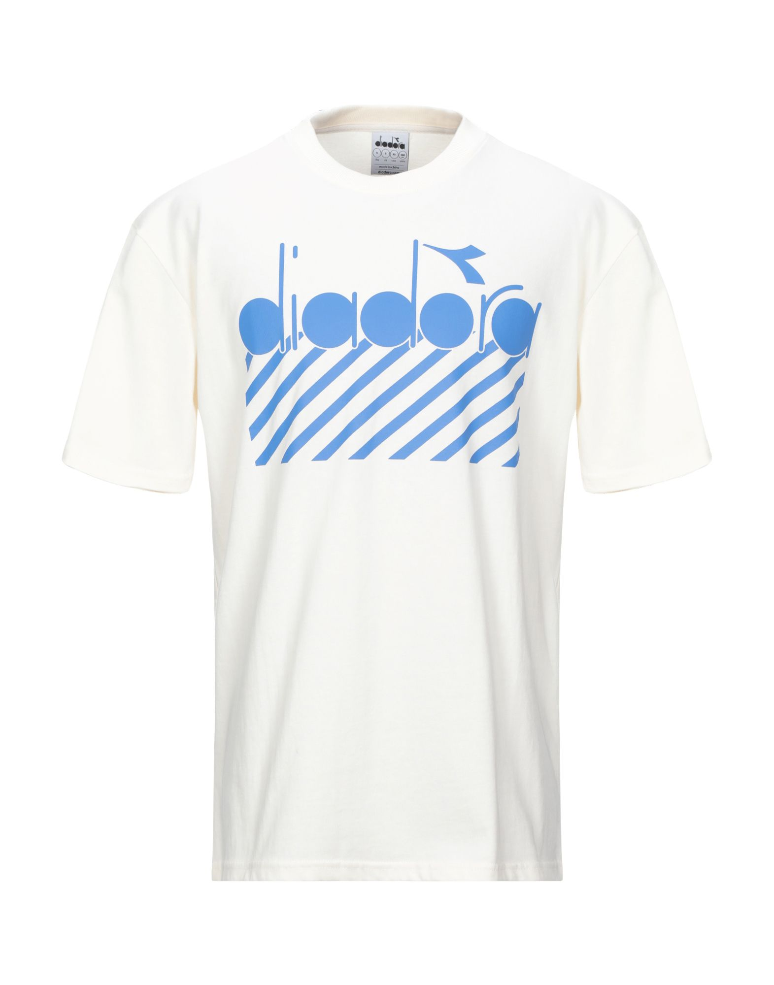 《セール開催中》DIADORA メンズ T シャツ アイボリー XS コットン 100%