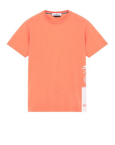 "STONE ISLAND 2NS83""DRONE ONE"" Short sleeve t-shirt Man Lobster Red USD 92"