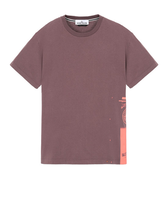 "STONE ISLAND 2NS83""DRONE ONE"" Short sleeve t-shirt Man MAHOGANY BROWN"