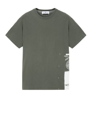 """STONE ISLAND 2NS83""""DRONE ONE"""" Short sleeve t-shirt Man Olive Green EUR 103"""
