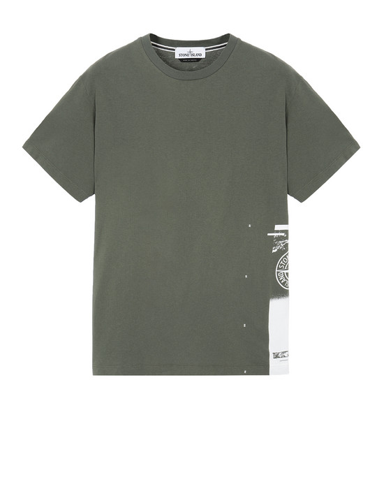 "STONE ISLAND 2NS83""DRONE ONE"" Short sleeve t-shirt Man Olive Green"
