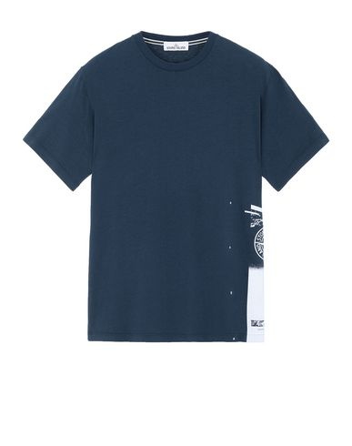 "STONE ISLAND 2NS83""DRONE ONE"" Short sleeve t-shirt Man Marine Blue USD 92"